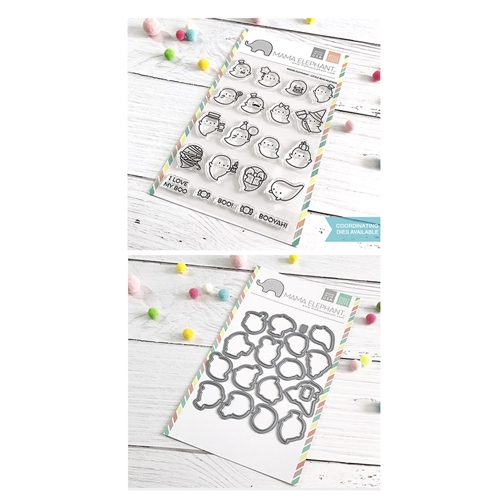 Mama Elephant Clear Stamp and Die mept658 Little Boo Agenda SET Preview Image