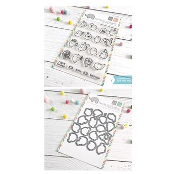 Mama Elephant Clear Stamp and Die mept658 Little Boo Agenda SET