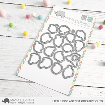 Mama Elephant LITTLE BOO AGENDA Creative Cuts Steel Dies