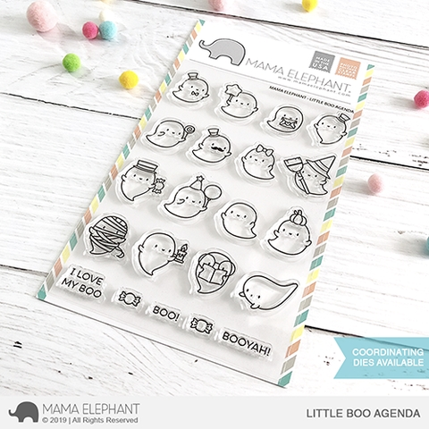Mama Elephant Clear Stamps LITTLE BOO AGENDA Preview Image