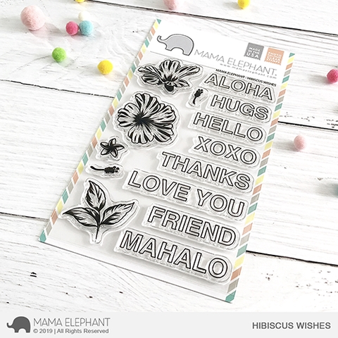 Mama Elephant Clear Stamps HIBISCUS WISHES  zoom image
