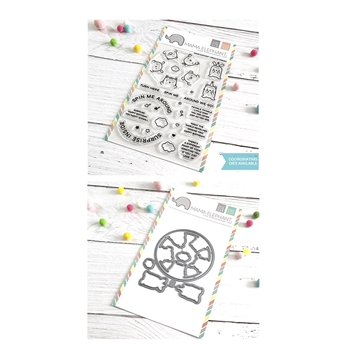 Mama Elephant Clear Stamp and Die mept662 Circle of Friends SET