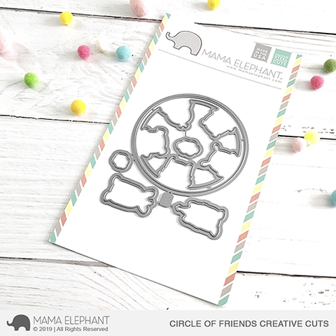 Mama Elephant CIRCLE OF FRIENDS Creative Cuts Steel Dies Preview Image
