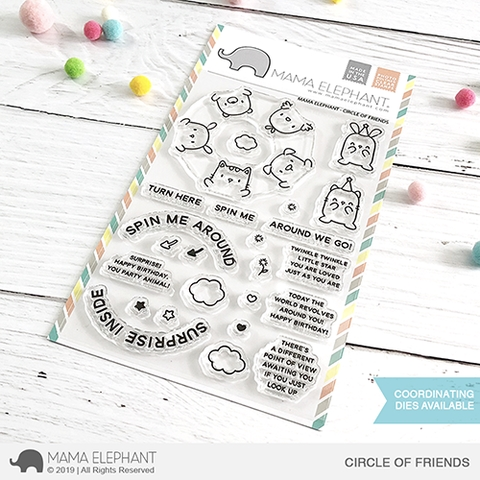 Mama Elephant Clear Stamps CIRCLE OF FRIENDS Preview Image