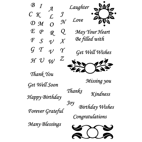 Joy Clair MANY BLESSINGS Clear Stamp Set clr-02011 Preview Image