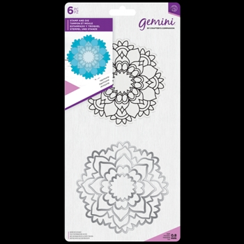 Crafter's Companion HARMONY MANDALA Gemini Stamp And Die Set gem-std-har