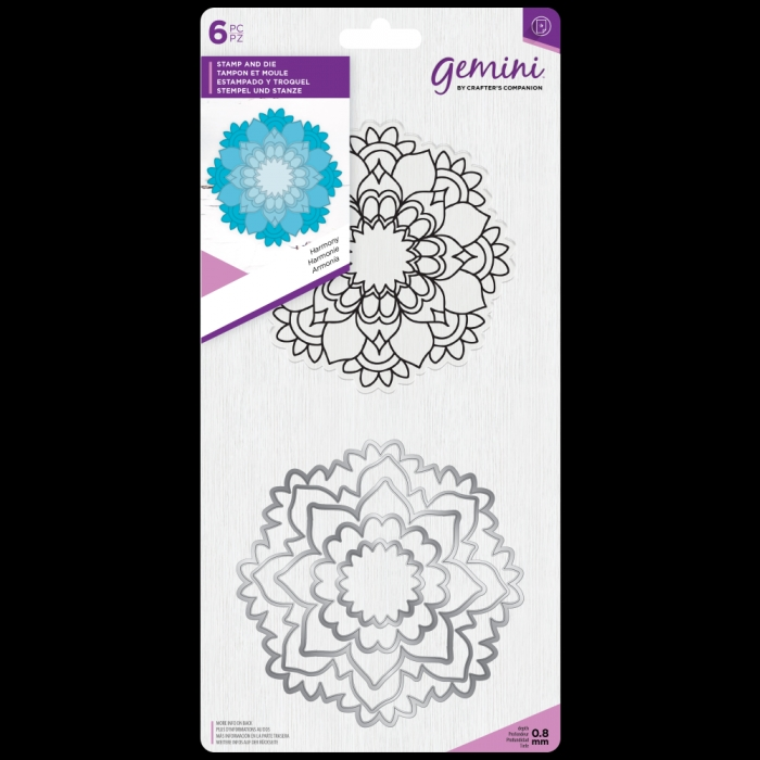 Crafter's Companion HARMONY MANDALA Gemini Stamp And Die Set gem-std-har zoom image