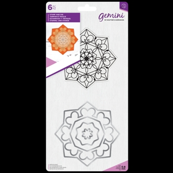Crafter's Companion ZEN MANDALA Gemini Stamp And Die Set gem-std-zen