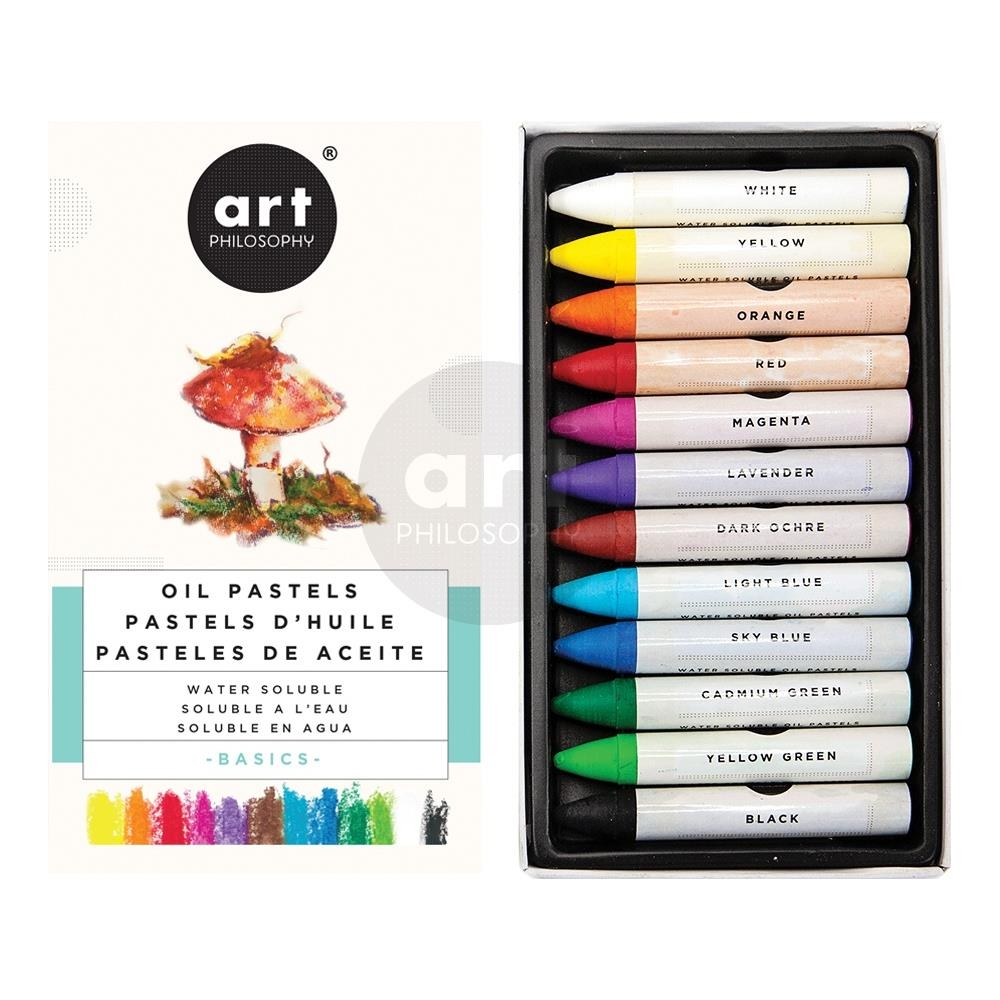 Prima Marketing BASICS Art Philosophy Water Soluble Oil Pastels 631925 zoom image