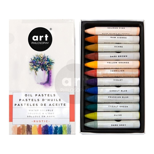 Prima Marketing RUSTIC Art Philosophy Water Soluble Oil Pastels 631932 Preview Image
