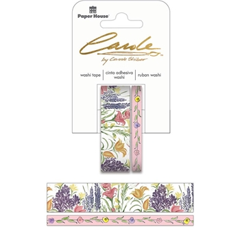 Paper House Carole Shiber HAND PAINTED WILDFLOWERS Washi Tape Set STWA-0030E