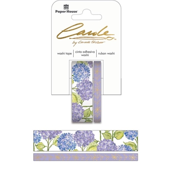 Paper House Carole Shiber HAND PAINTED HYDRANGEAS Washi Tape Set STWA-0029E