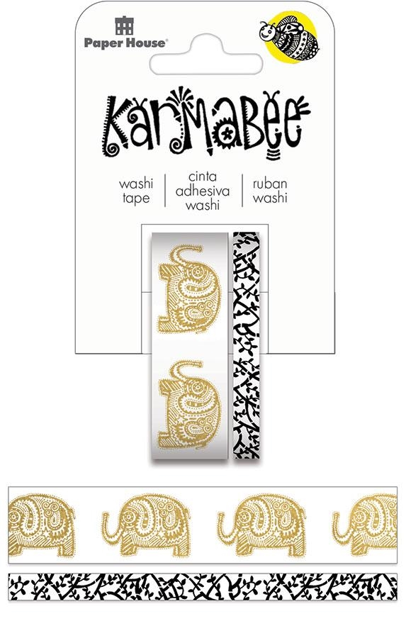 Paper House ELEPHANTS Washi Tape Set STWA-0024E zoom image
