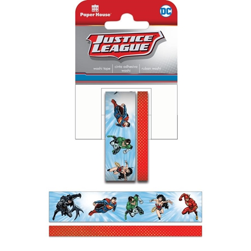 Paper House JUSTICE LEAGUE HEROES Washi Tape Set STWA-0039E Preview Image