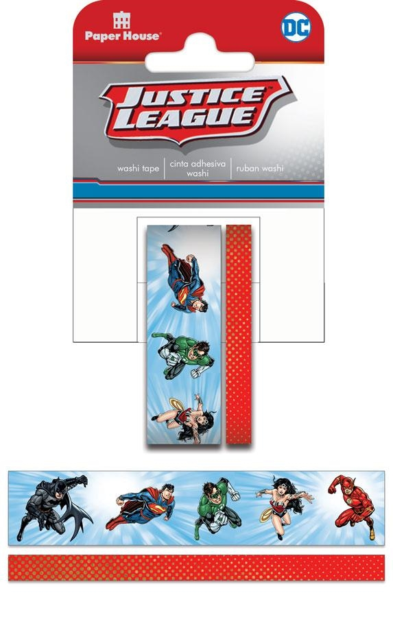 Paper House JUSTICE LEAGUE HEROES Washi Tape Set STWA-0039E zoom image