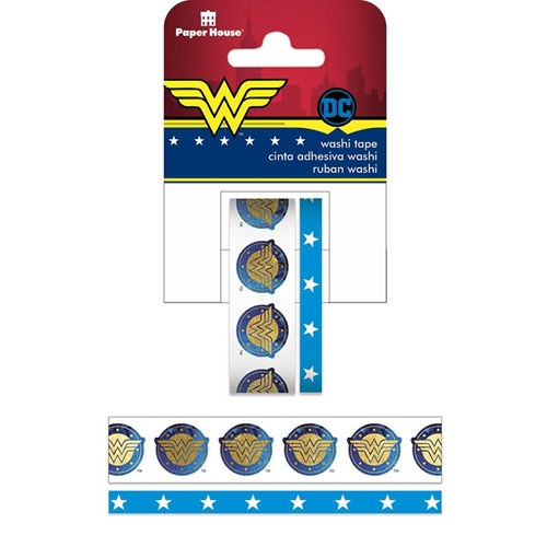 Paper House WONDER WOMAN Washi Tape Set STWA-0007E Preview Image