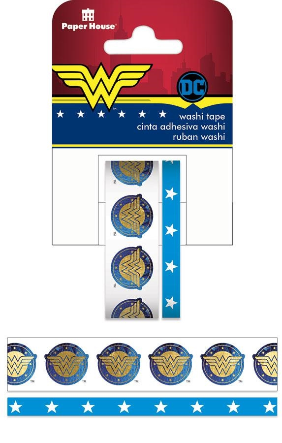Paper House WONDER WOMAN Washi Tape Set STWA-0007E zoom image