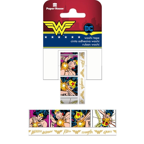 Paper House WONDER WOMAN COMIC Washi Tapes STWA-0037E Preview Image