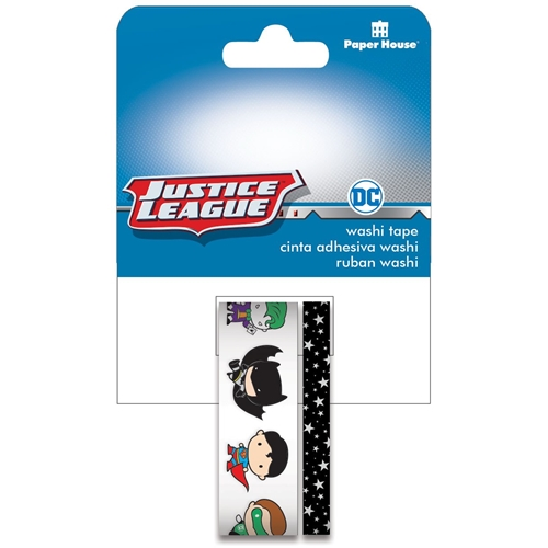 Paper House JUSTICE LEAGUE CHIBI CHARTERS Washi Tape Set STWA-0054E   Preview Image