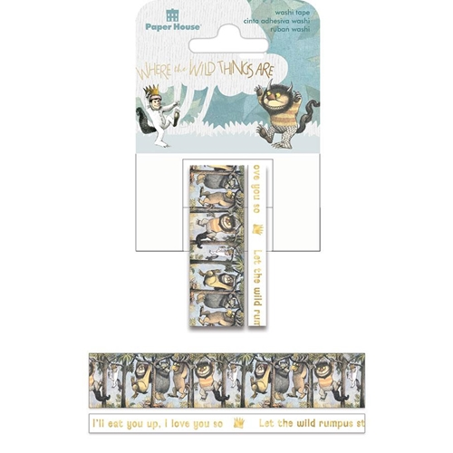 Paper House WHERE THE WILD THINGS ARE Washi Tapes STWA-0038E Preview Image