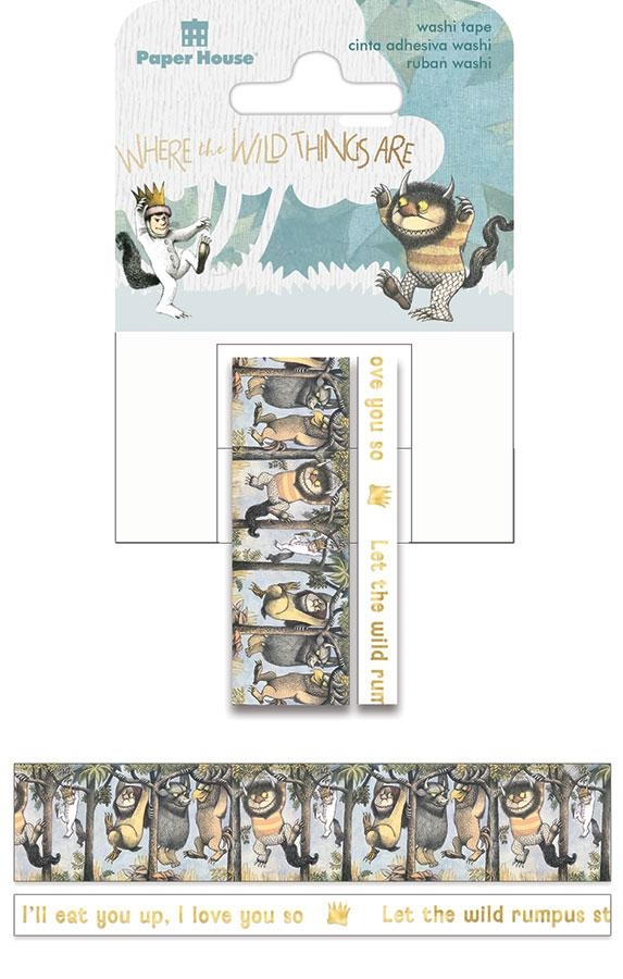 Paper House WHERE THE WILD THINGS ARE Washi Tapes STWA-0038E zoom image