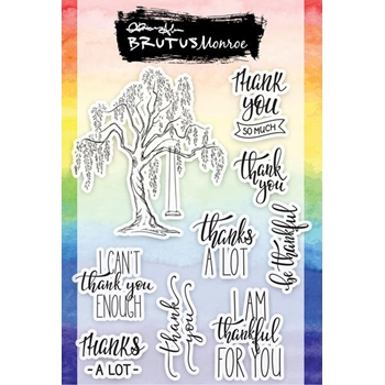 Brutus Monroe Clear Stamps TREE OF THANKS bru4362