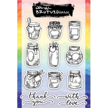 Brutus Monroe Clear Stamps JARS OF LOVE bru4386