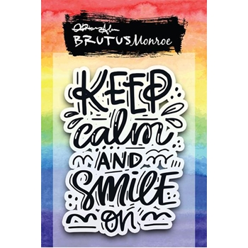 Brutus Monroe Clear Stamps SMILE ON bru4355