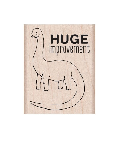 Hero Arts Rubber Stamp HUGE IMPROVEMENT E6332 Preview Image