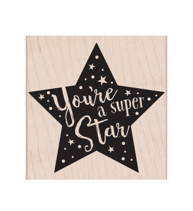Hero Arts Rubber Stamp SUPER STAR F6342 Preview Image