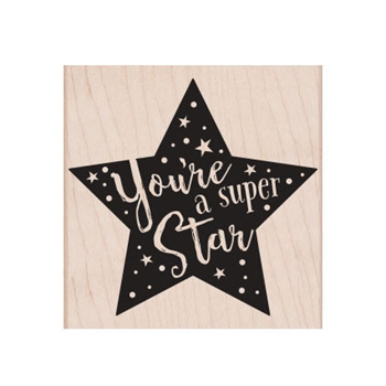 Hero Arts Rubber Stamp SUPER STAR F6342