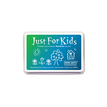 Hero Arts JUST FOR KIDS GREEN TO BLUE RAINBOW Ink Pad CS123