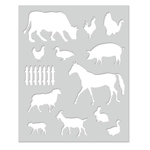 Hero Arts Stencil FARM ANIMALS SA129 Preview Image