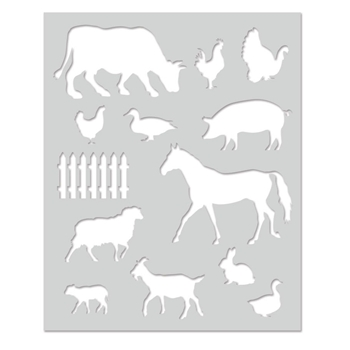 Hero Arts Stencil FARM ANIMALS SA129