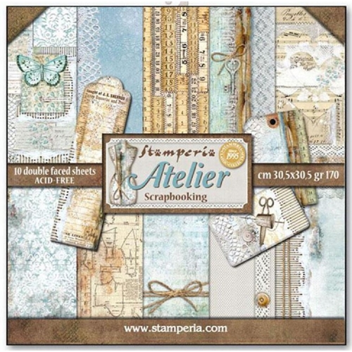 Stamperia ATELIER 12x12 Paper sbbl31 Preview Image