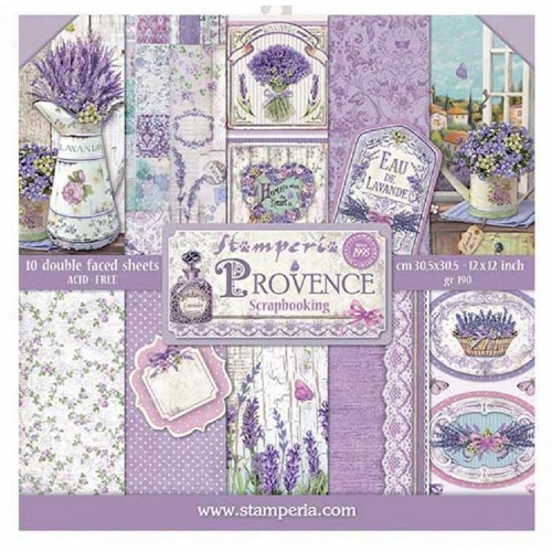 Stamperia PROVENCE 12x12 Paper sbbl51 Preview Image