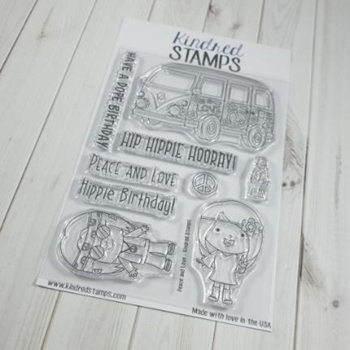 Kindred Stamps PEACE AND LOVE Clear Stamps 44332663