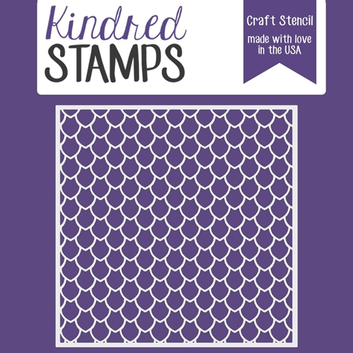 Kindred Stamps DRAGON SCALES Stencil 44332698 Preview Image
