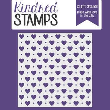 Kindred Stamps HEART AND DOTS Stencil 44332699