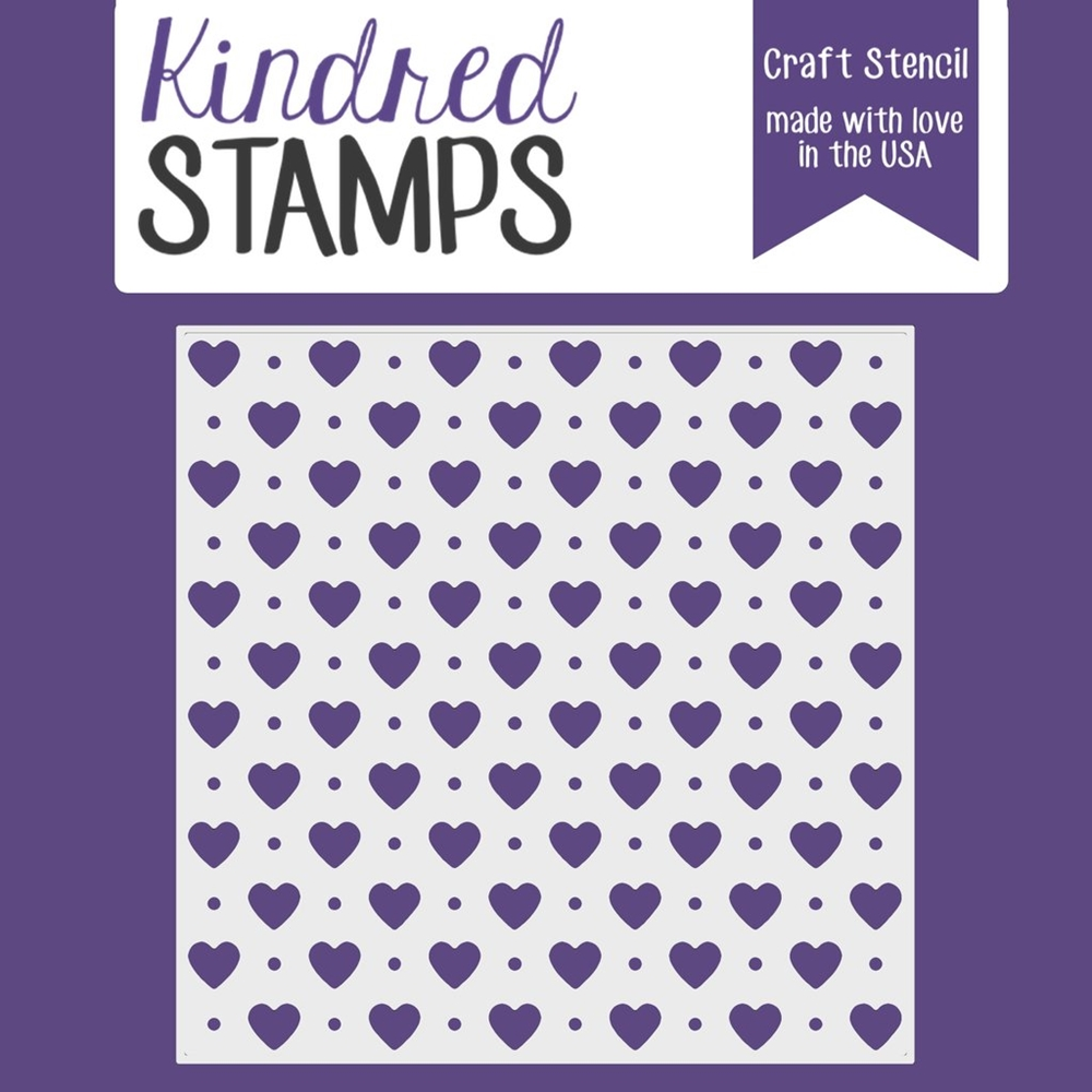 Kindred Stamps HEART AND DOTS Stencil 44332699 zoom image