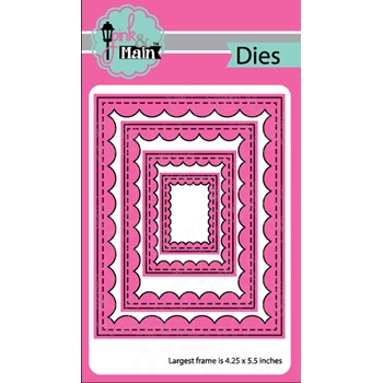 Pink and Main REVERSE SCALLOP RECTANGLES Dies PNM224