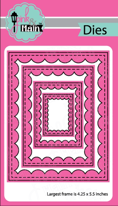Pink and Main REVERSE SCALLOP RECTANGLES Dies PNM224 zoom image