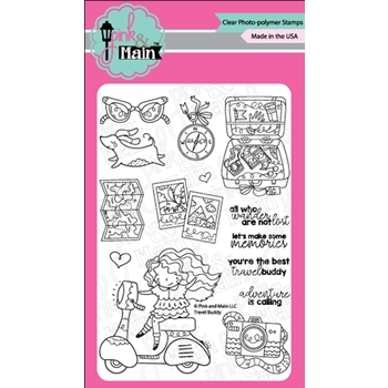 Pink and Main TRAVEL BUDDY Clear Stamps PM0345