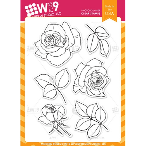 Wplus9 MODERN ROSES Clear Stamps cl-wp9mr Preview Image