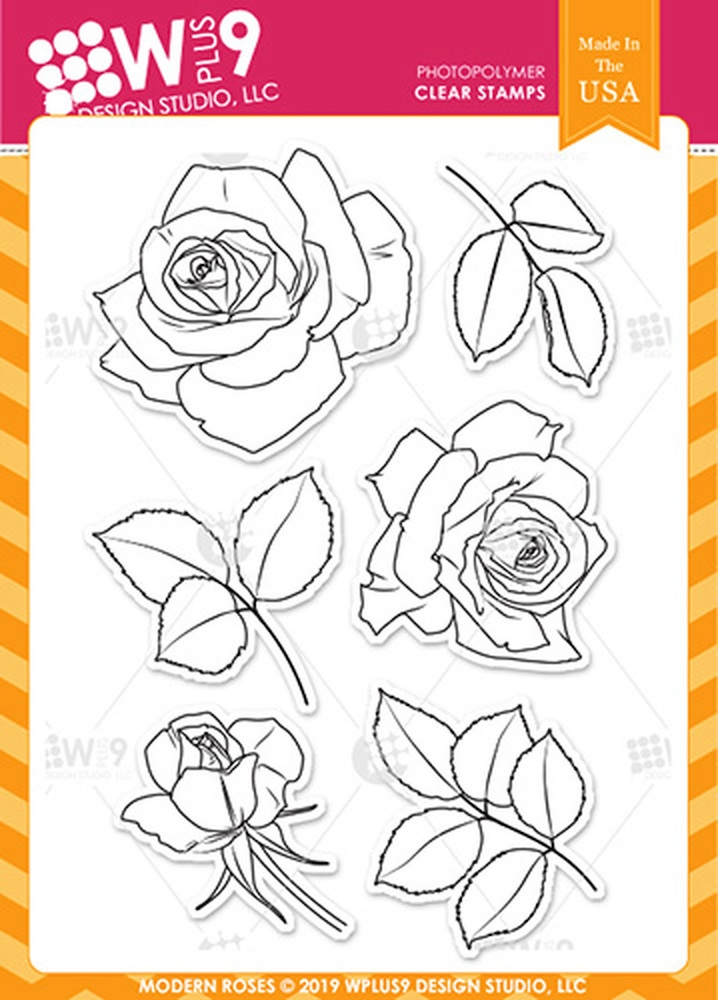 Wplus9 MODERN ROSES Clear Stamps cl-wp9mr zoom image