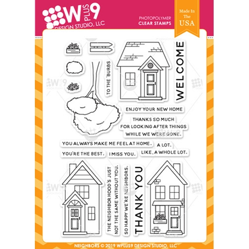 Wplus9 NEIGHBORS Clear Stamps cl-wp9nei Preview Image