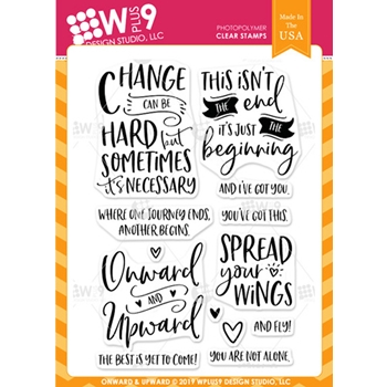 Wplus9 ONWARD AND UPWARD Clear Stamps cl-wp9onup