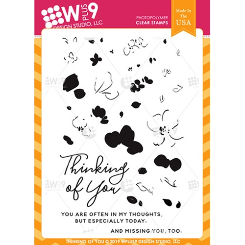 Wplus9 THINKING OF YOU Clear Stamps cl-wp9toy Preview Image