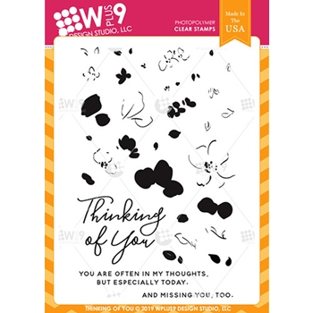 Wplus9 THINKING OF YOU Clear Stamps cl-wp9toy