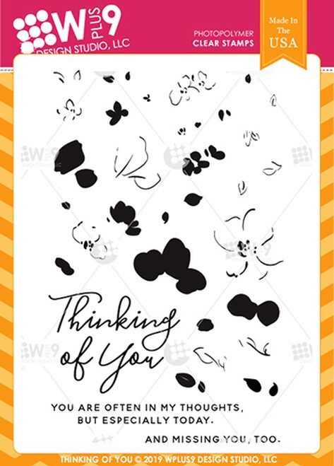 Wplus9 THINKING OF YOU Clear Stamps cl-wp9toy zoom image